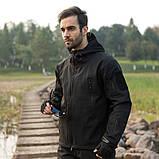 Тактическая куртка Soft Shell (Black) XXXXL, фото 7
