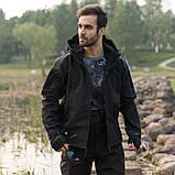 Тактическая куртка Soft Shell (Black) XXXXL, фото 9