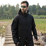 Тактическая куртка Soft Shell (Black) XXXXL, фото 10