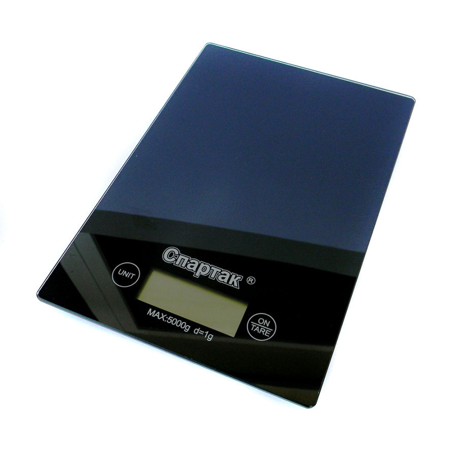 Электронные кухонные весы на 5 кг Спартак CK-1912 черный Уценка(122319)