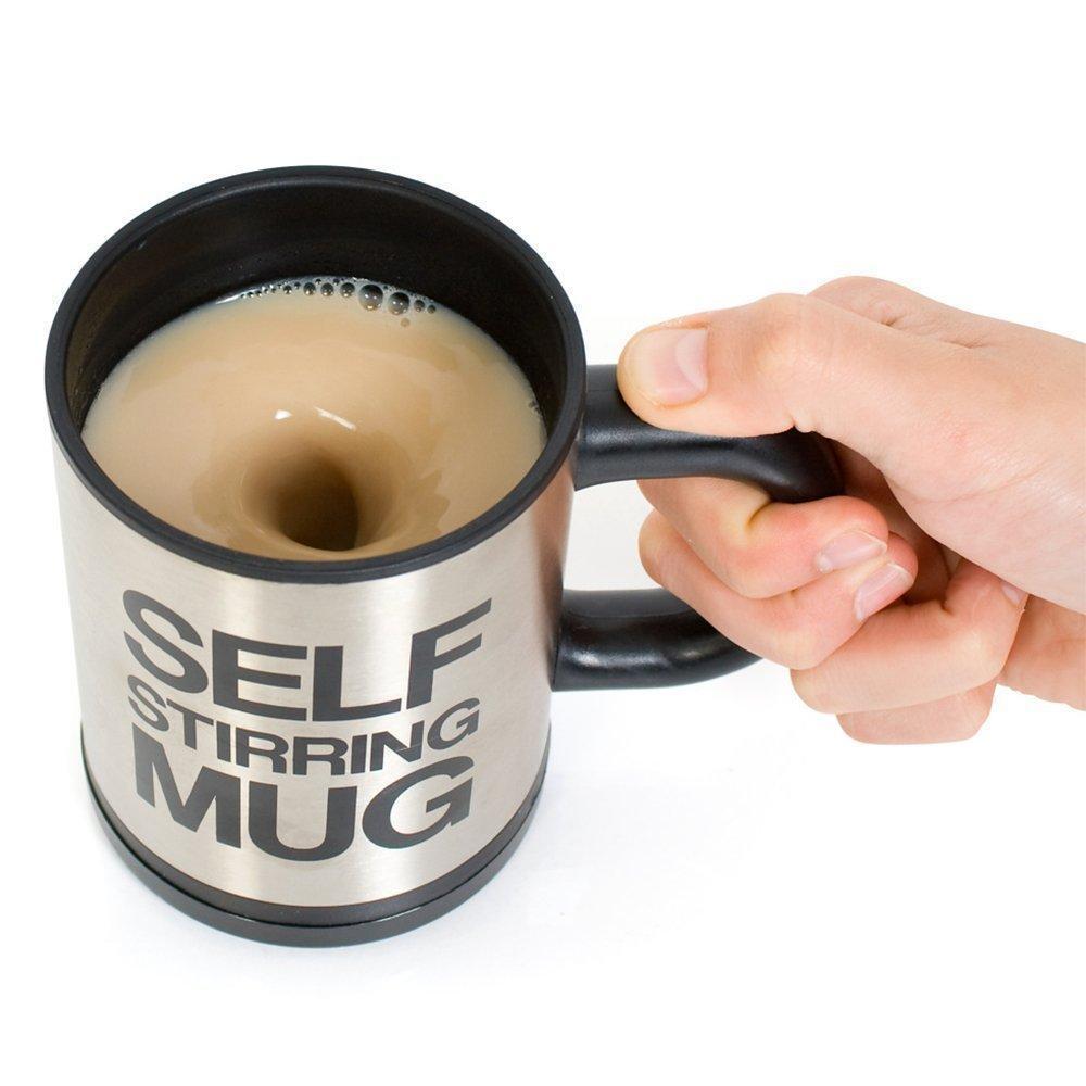Чашка с вентилятором для размешивания сахара Self Stirring Mug Black