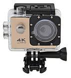Экшн камера с пультом 4K V3R Wi Fi с аквабоксом и пультом Gold (11810), фото 2