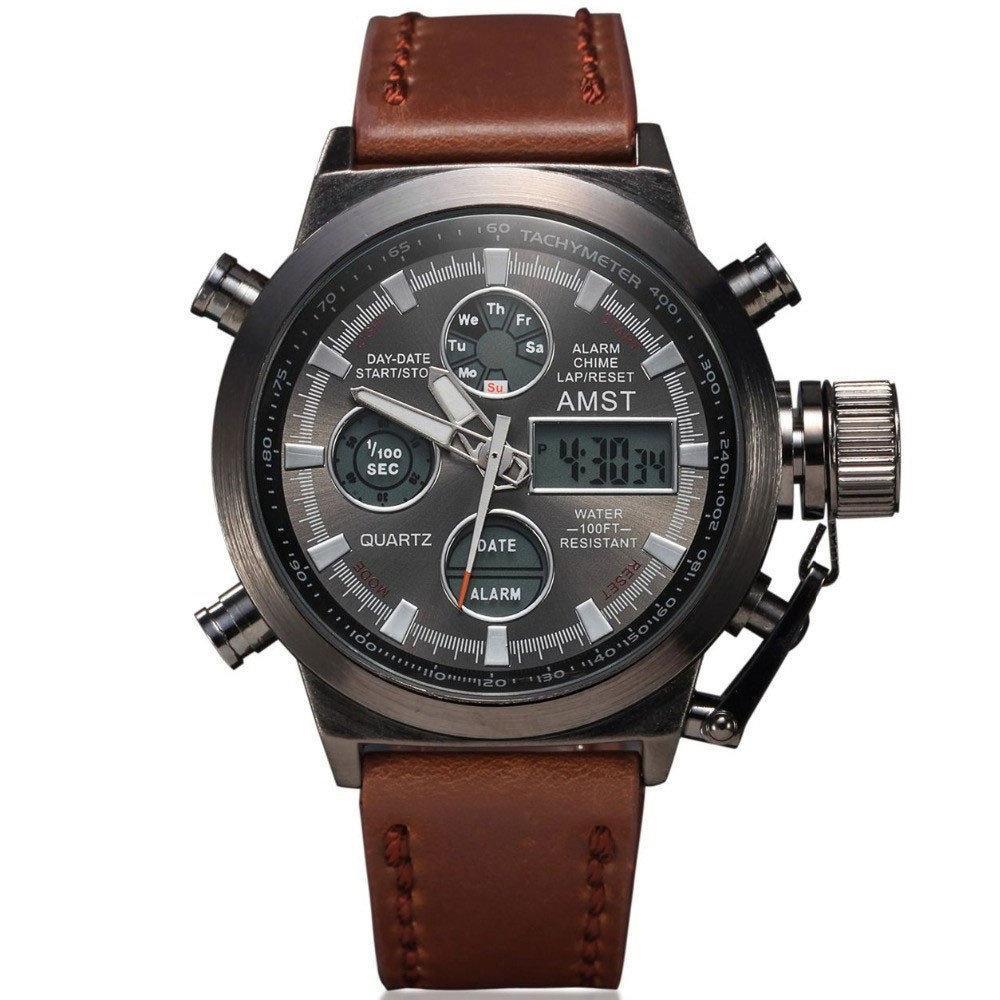 УЦЕНКА Водонепроницаемые армейские часы AMST AM3003 Brown (тех. пакет) (154728)