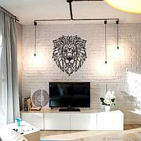 """Декор для стен. Панно из металла """"Добрый лев"""" 56*70 см"""