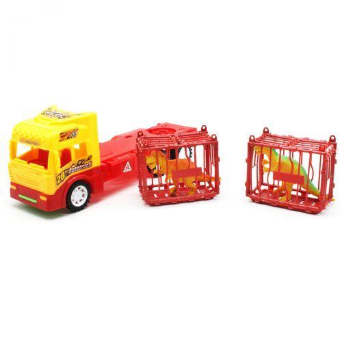 Машинка трейлер +звірі желтый 6686-7