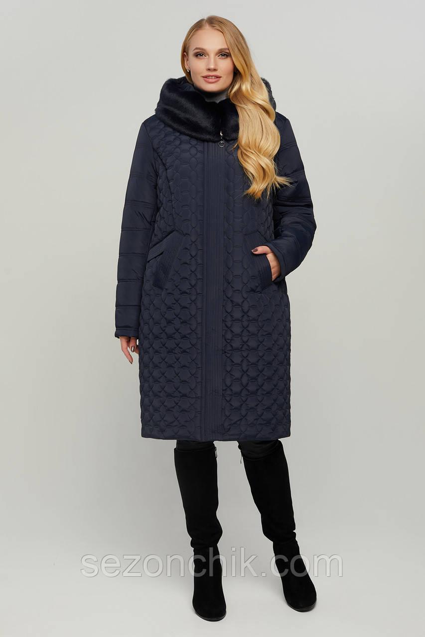Стильное зимнее женское пальто модное