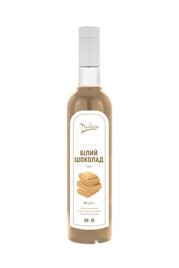 Сироп Белый Шоколад Delicia 900 г