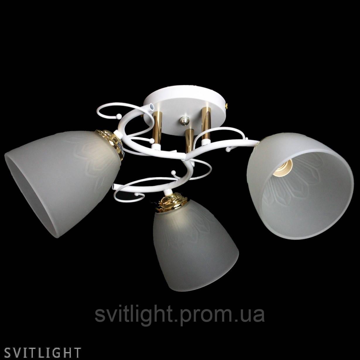 Люстра на 3 плафона sz-7501/3 wh Svitlight