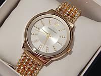 Женские кварцевые наручные часы Swarovski со стразами на металлическом ремешке, фото 1