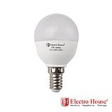ElectroHouse LED лампа куля Е14 4100K 5W 450Lm P45, фото 2