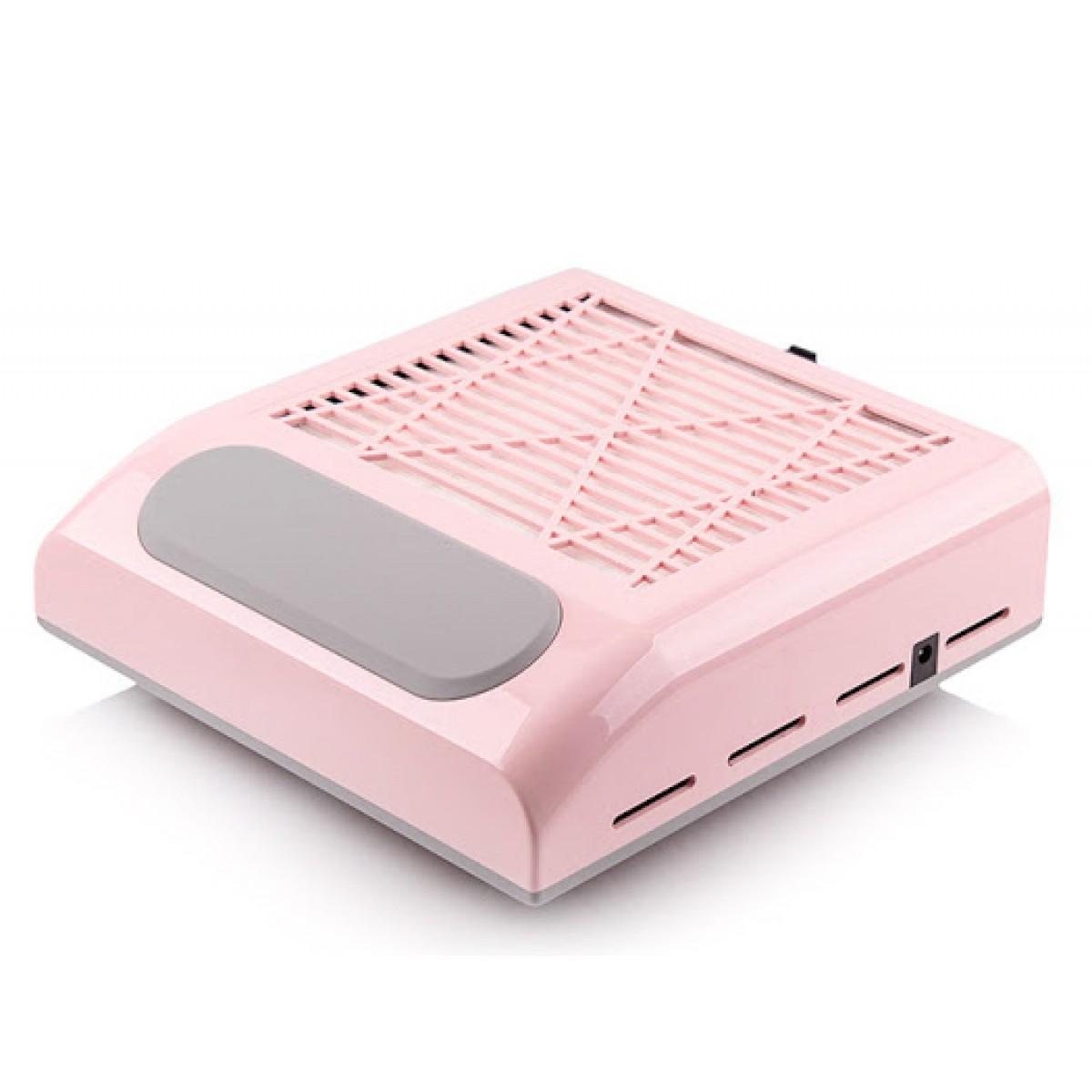Вытяжка для маникюра 858-8 c фильтром 80W розовая