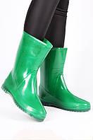 Сапоги резиновые женские зеленые размер 39