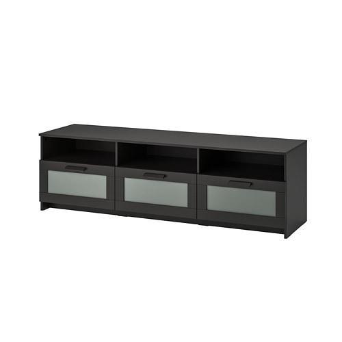 ИКЕА (IKEA) БРИМНЭС, 704.098.73, Тумба под ТВ, черный, 180x41x53 см - ТОП ПРОДАЖ