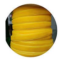 Лента бархатная (велюр) желтая 1см