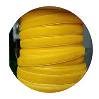 Оксамитова стрічка (велюр) жовта 1см