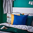 ИКЕА (IKEA) ГУРЛИ, 004.262.01, Чехол на подушку, темно-синий, 50x50 см - ТОП ПРОДАЖ, фото 3