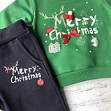 Теплый новогодний костюм на мальчика и девочку 45. Размер 80 см, 86 см, фото 2