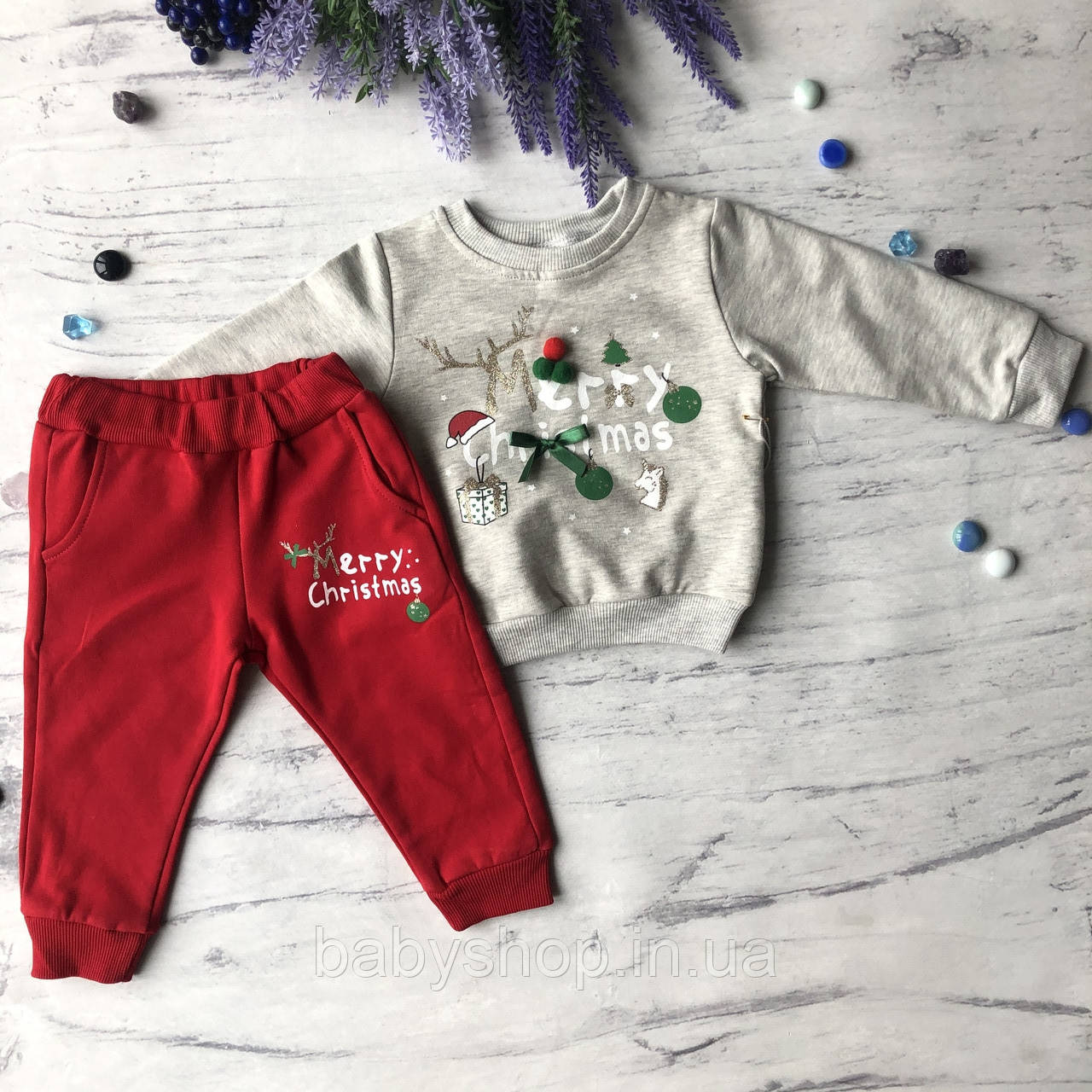 Теплый новогодний костюм на мальчика и девочку 46. Размер 80 см, 86 см, 92 см,  98 см
