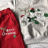 Теплый новогодний костюм на мальчика и девочку 46. Размер 80 см, 86 см, 92 см,  98 см, фото 2