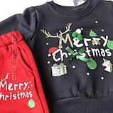 Теплый новогодний костюм на мальчика и девочку 47. Размер 80 см, 86 см, 92 см,  98 см, фото 2