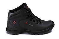 Ботинки (кроссовки) зимние мужские черные кожаные 40р