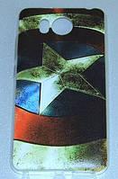 Силиконовый чехол для Prestigio Multiphone 7501 Grace R7 с рисунком Щит Капитана Америка