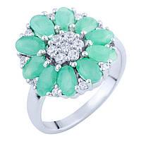 Серебряное кольцо DreamJewelry с натуральным изумрудом 2.63ct (1762950) 18 размер