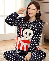 Обезьяна,аниме,теплая пижама,фланель