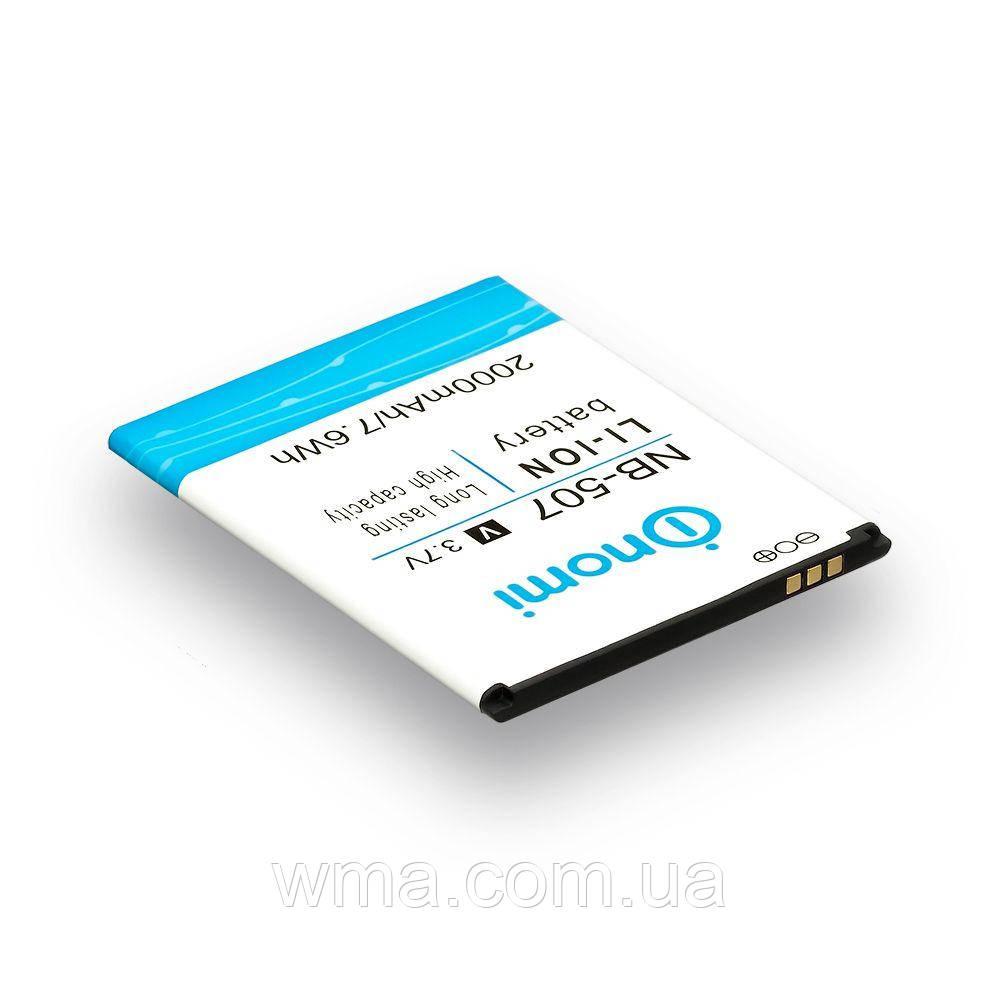 Аккумулятор для телефонов (батарея) Nomi NB-507 / i507 Характеристики AAAA