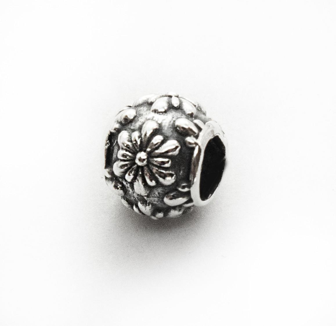 Намистина срібна Шарм Квітка Bs_92219