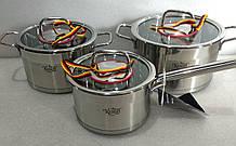 Набор посуды из нержавеющей стали Krauff 3 шт 2,6л/3,6л/1,9л (26-295-001)
