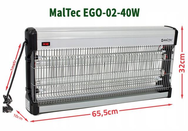 Розмір лампи Малтек