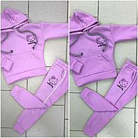 Дитячі теплі спортивні костюми для дівчаток оптом, фото 1