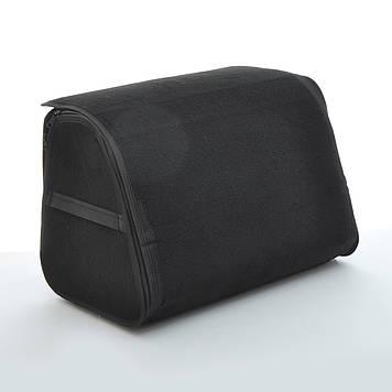 Сумка в багажник ворс  400х300х280мм BK 1отдел/основа полиэстер/пласт.ручки/липучки