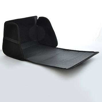 Сумка в багажник ворс  400х300х280мм BK 1отдел/основа полиэстер/тканев.ручки/липучки