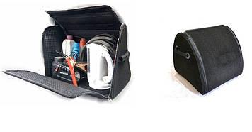 Сумка в багажник ворс  500х300х280 BK 1отдел/ворс/основа полиэстер/пласт.ручки/липучки