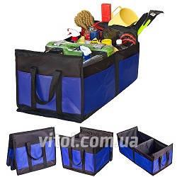 Сумка в багажник плащевка  520*300*200мм  BK/BL  Штурмовик АС-1537