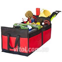 Сумка в багажник плащевка  600х370х250мм  BK/RD  Штурмовик АС-1536