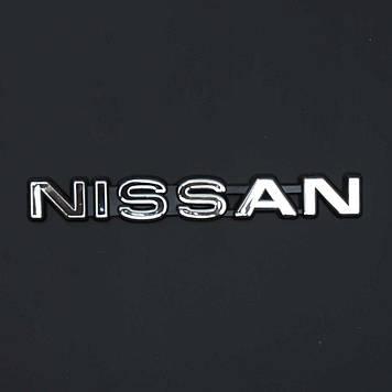 "Емблема - напис ""NISSAN"" 162х21 мм скотч (Чорний ободок)"