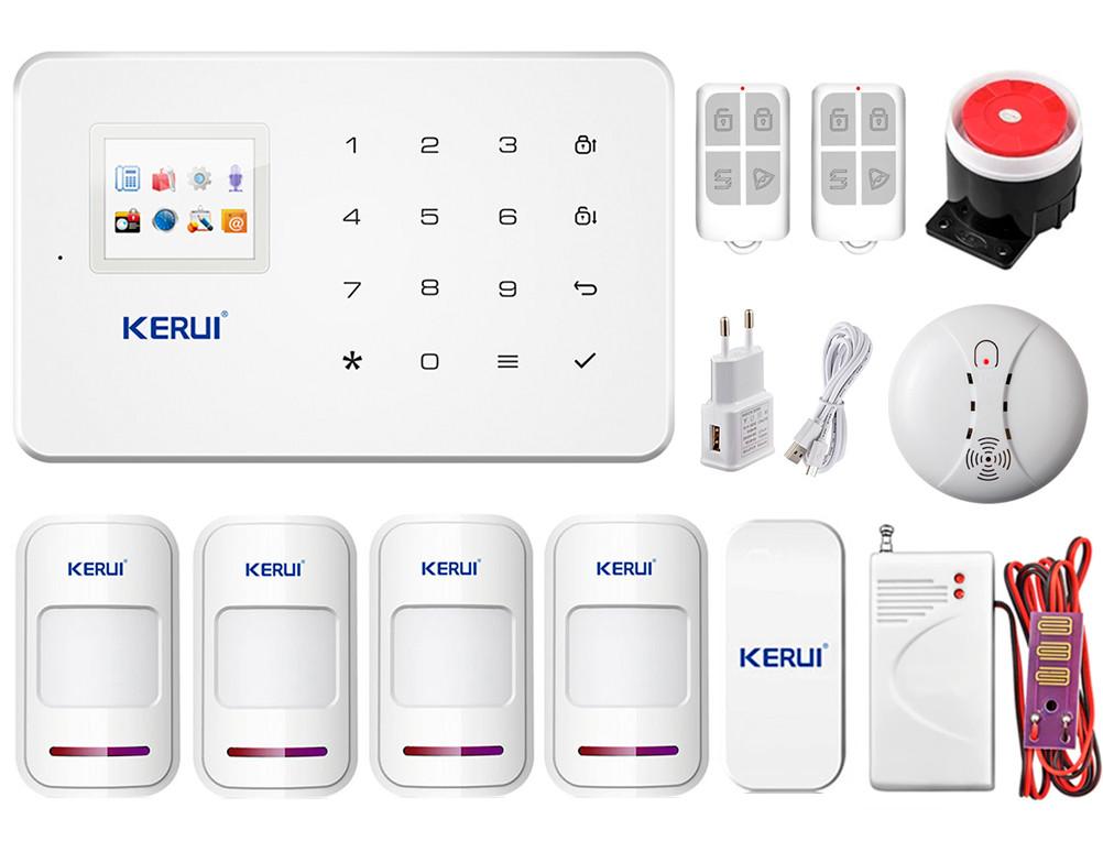 Комплект GSM сигналізації KERUI G-18 spec komplect для 3-кімнатної квартири (GGDTV37VJJY)