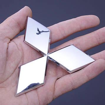"""Емблема """"Mitsubishi"""" 89мм\пластик\скотч 3М (середня)"""