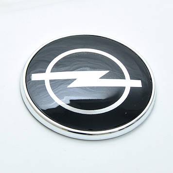 "Эмблема  ""Opel""  72мм\пластик\черная+хром\Cкотч"