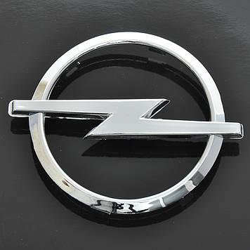 "Эмблема  ""Opel"" 115х45мм\пластик\хром\скотч (Astra H, Corsa D перед\зад)"