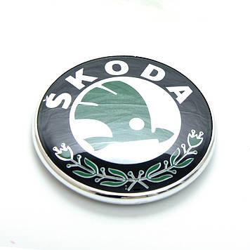 "Емблема ""Skoda"" 72мм\пластик\скотч"