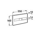 PRO спускная кнопка PL2 Dual, хром ROCA A890096001, фото 2