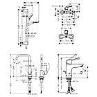LOGIS LOOP набор смесителей для ванны, умывальник 100 + кухня (71151000+71244000+26553400+31820000), фото 2