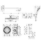 FOCUS душевой набор скрытого монтажа (26723000+27413000+31945000+01800180+26694400+27454000), фото 2