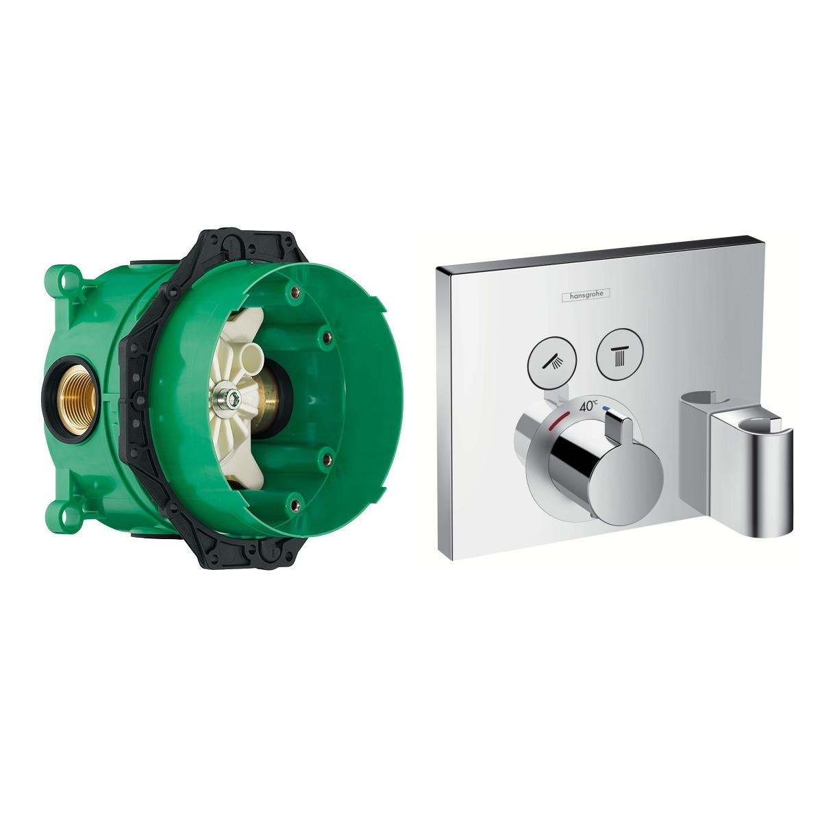 SHOWER Select термостат для 2х потребителей, СМ + IBOX universal скрытая часть для смесителя (в подарок)