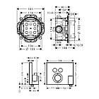 SHOWER Select термостат для 2х потребителей, СМ + IBOX universal скрытая часть для смесителя (в подарок), фото 2