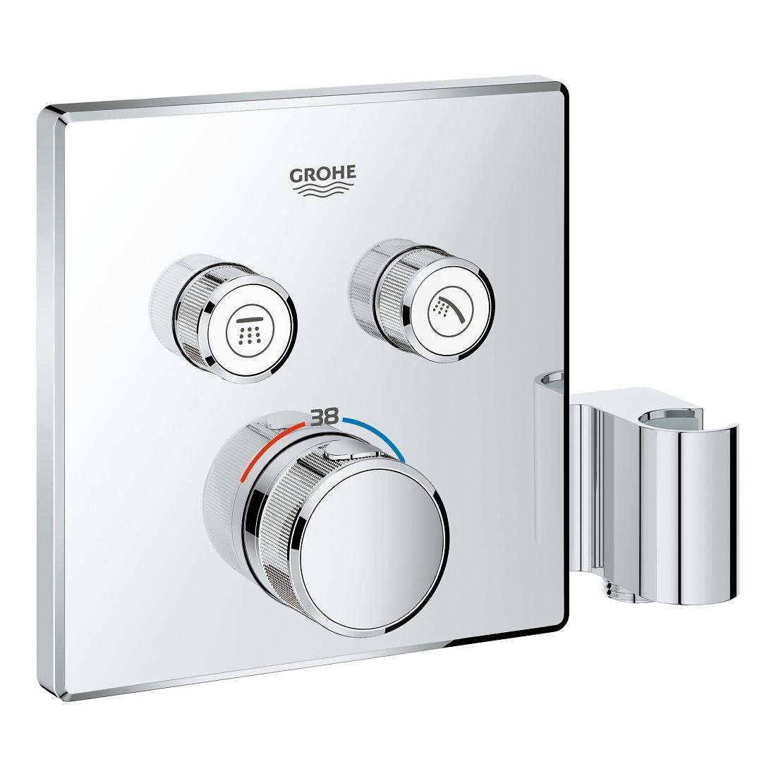 GROHTHERM SmartControl термостат для душа, внешняя часть, на 2 потребителя, со встроенным держателем ручного